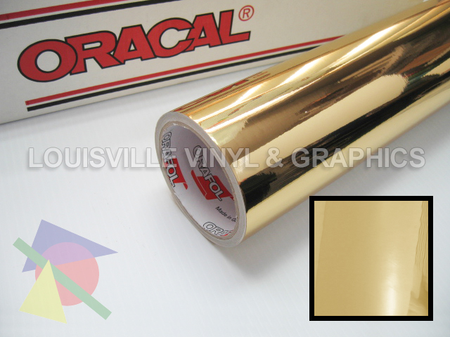 24 Quot X 4ft Oracal 351 Gold Chrome Polyester Sign