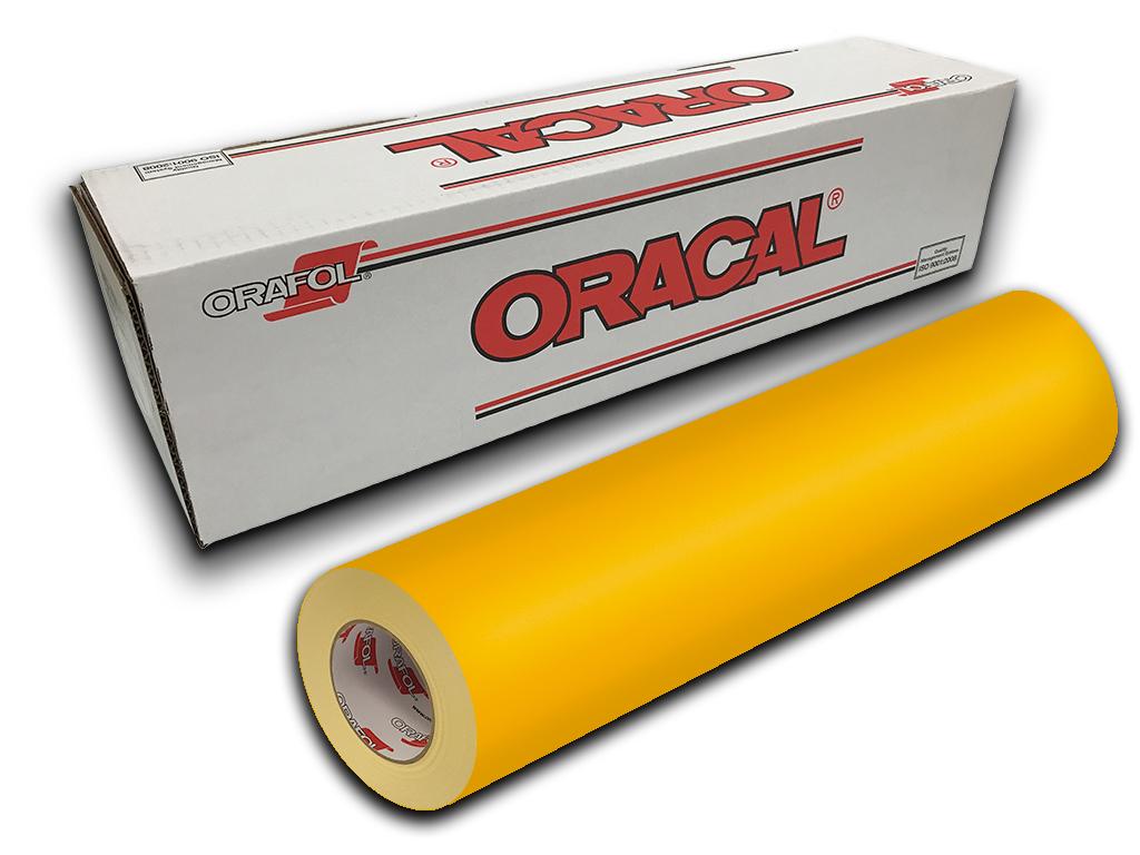 """Signal Yellow Oracal 651 Craft /& Hobby Cutting Vinyl Roll 12/"""" X 10yd"""